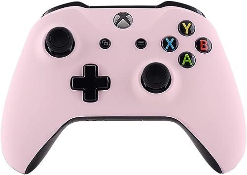 eXtremeRate Carcasa para Mando Xbox One S/X Accesorios Protectora Suave al Tacto Placa Frontal Funda Delantera Kit de reemplazo Cubierta Shell para Controlador de Xbox One S/X(Model 1708) Sakura Rosa: Amazon.es: Electrónica