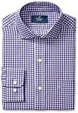 Buttoned Down Mens Classic Fit Cutaway-Collar Pattern Non-Iron Dress Shirt