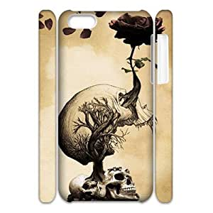 LJF phone case Skull Brand New 3D Cover Case for ipod touch 4,diy case cover ygtg557839