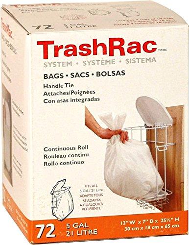 TrashRac Refill Bags 87072 For 5 Gallon Frame - 72 Count
