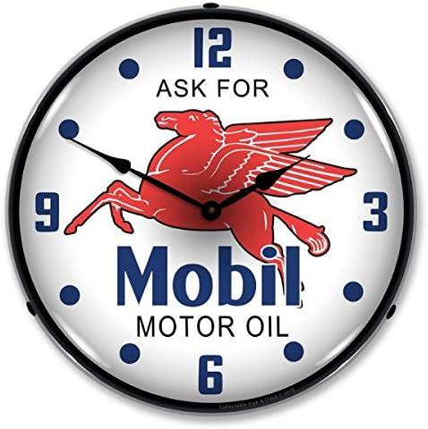 Mobil Pegasus Lighted Wall Clock
