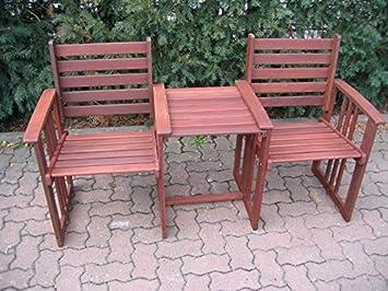 Salon de jardin Banquette Banc de jardin balcon terrasse banc bois ...