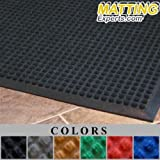 MattingExperts Entrance Runner Water Absorbing Carpet-like Rug Dry Durable 1/2 thick Square Top Surface Mat for Entrance-ways Hallways Lobbies Hotel Office Commercial B019 (2'x3', Brown)