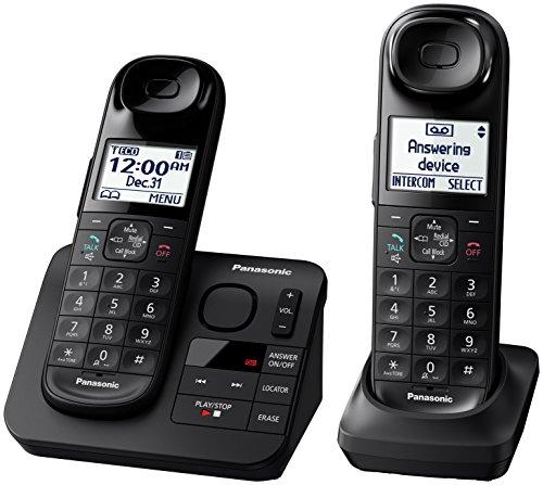 Panasonic KX-TGL432B Dect_6.0 2-Handset Landline Telephone, Black by Panasonic