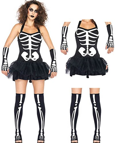Fever Skeleton Tutu Dress Costume Full S/m Christmas Halloween -