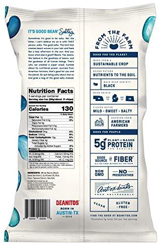 Beanitos Black Bean Chips, Original OMG Sea Salt, 5 Ounce - Vegan and Gluten Free (Pack of 6)