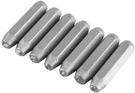 Set di timbri per lettere e numeri da 38 pezzi con utensili in metallo punzonato con custodia in plastica