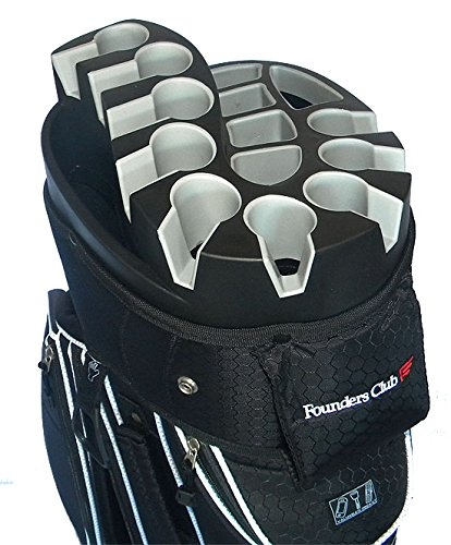 Founders Club Premium 14 Way Organizer Cart Bag (Black)