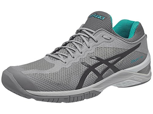 ASICS Unisex-Adult Court FF Shoes, Size: 15 D(M) US, Color Aluminum/Dark Grey/Lapis