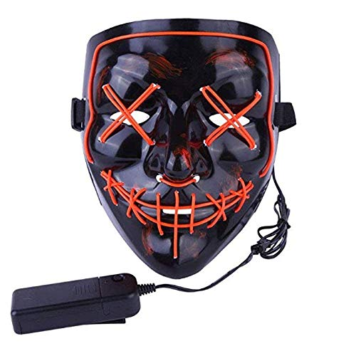 Kangkang Halloween Mask LED Light up Funny Masks The Purge Election Year Great Festival Cosplay Costume Supplies Party Masks Glow in Dark -