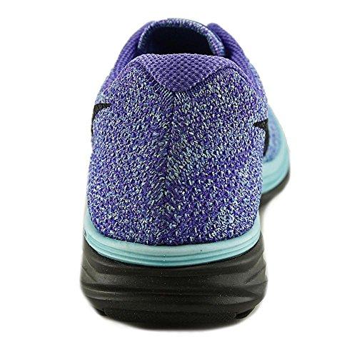 NikeFlyknit Lunar 3 - Zapatillas de correr mujer LIGHT AQUA/BLACK-PRSN VIOLET-UNVRSTY