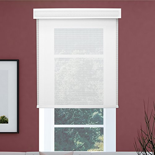 Chicology Free-Stop Cordless Roller Shades / Blind Curtain Drape, No Tug, Solar, Block Out UV Rays - Cloud White, 48''W X 72''H by CHICOLOGY