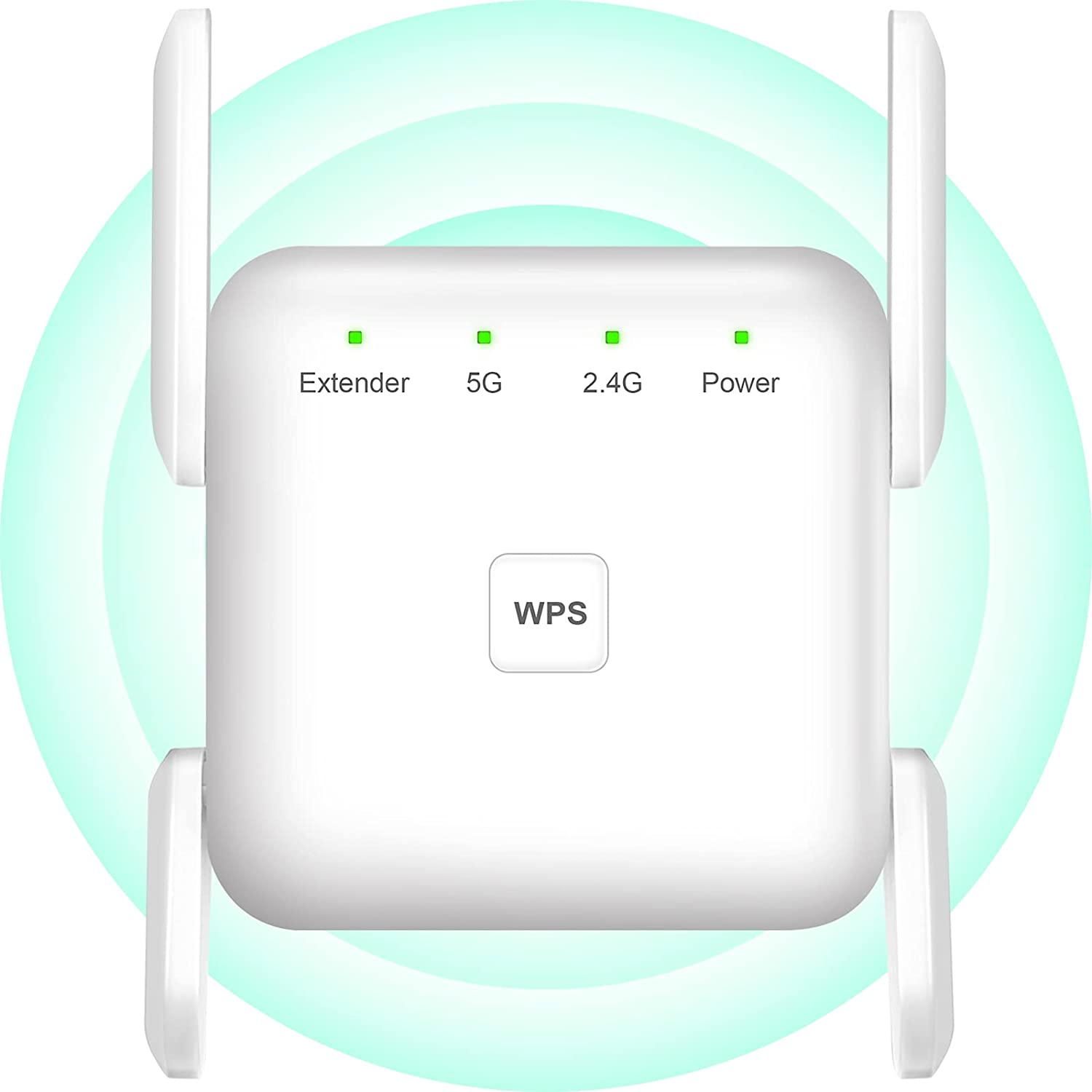 WiFi Extender, WiFi Booster -1200Mbps 2.4G & 5GHz WiFi Extenders Signal Booster for Home, WPS Setup WiFi Extender with Ethernet Port, 360° Full Coverage WiFi Signal Booster to Wireless Devices (White)