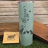 Personalized Name And Pets Tumbler Engraved Tumbler For Her Girls Cup Double Wall Vacuum Insulation Pets Personalized Name