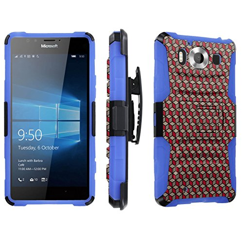 Photo - [SkinGuardz] Case for Microsoft Lumia 950 [Heavy Duty Ultra Armor Tough Case with Holster] - [Red Box]