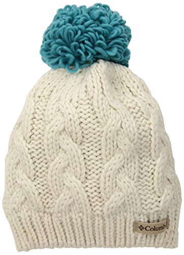 Columbia Baby Girls' Big Kids in-Bounds Beanie, Chalk, Pacific Rim, One Size