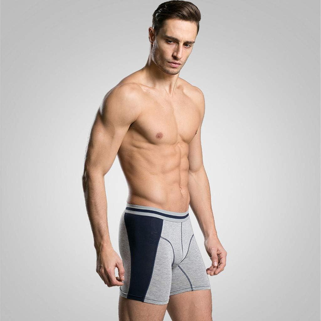 4pcs//Pack Mens Stretchy Trunks Underwear  Hipster Logo Cotton Plain Boxer Shorts