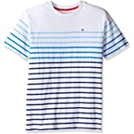 Tommy Hilfiger Boys' Short Sleeve Crew Neck Striped Tee