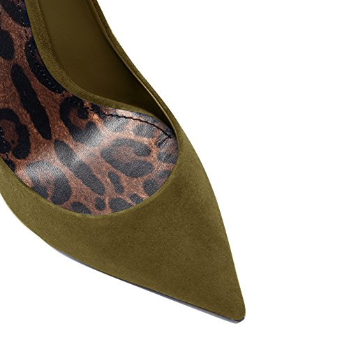 Damenschuhe Pumps Spitze Zehen Stiletto High Heel Leopard Sohle Rutsch Dress Party Hochzeit DunkelGr¨¹n