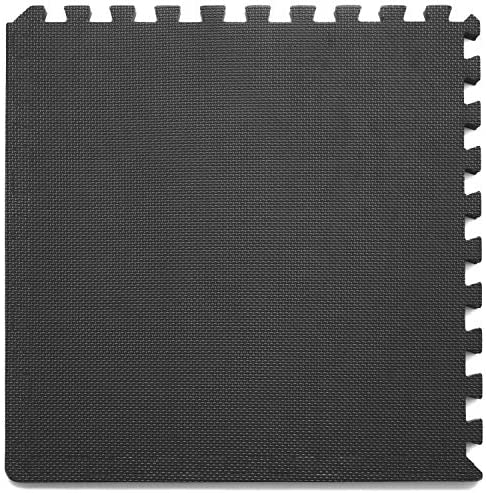 "Prosource Fit Extra Thick Puzzle Exercise Mat 3/4"" or 1"", EVA Foam Interlocking Tiles for Protective, Cushioned Workout Flooring for Home and Gym Equipment"