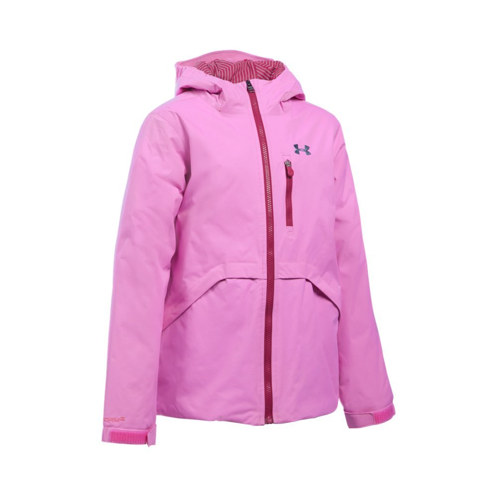 Under Armour Girl's ColdGear Reactor Yonders Jacket, Verve Violet/Black Cherry, Youth X-Small