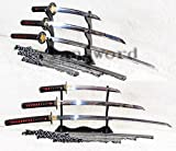 High Quality Clay Tempered Honsanmai Full Ray Skin Saya Japanese Samurai Sword (Katana+wakizashi+tanto)