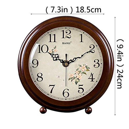 HAOFAY clock - Retro Vintage Mantel/European Modern Desktop Silent Quartz Clock Desk and Shelf Clock by HAOFAY (Image #1)