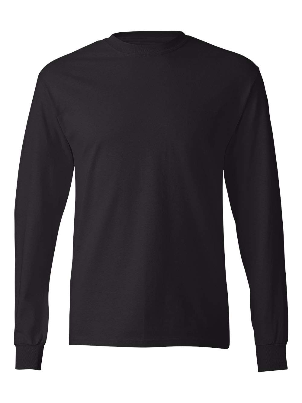 Hanes TAGLESS 6.1 Long Sleeve T-Shirt (Black, XXL)