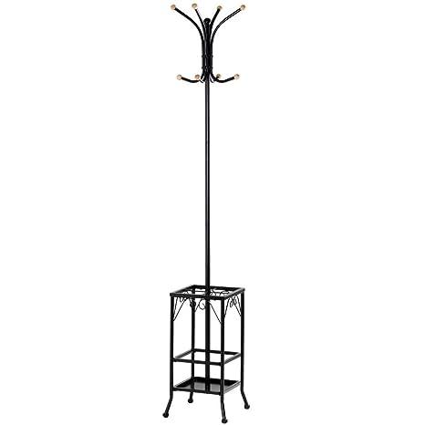 Yaheetech 188 cm - Perchero de pie con paragüero para salón ...
