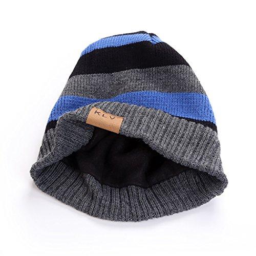 Invierno Punto Azul para Sombrero de Hombre Gorrita Gorros Mujeres Hombres Punto y TRd4qRxX