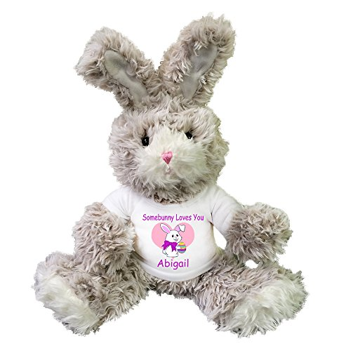 Personalized Stuffed Easter Bunny -