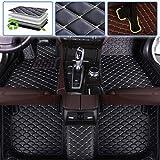 Custom Car Floor Mats for BMW 5 Series G30 G31 G38 F07 520i 525i 528i 530i 535i 540i 550i 520d 530d 2004 2005 2006 2007 2008 2009 Auto Foot Pads Automobile Carpet Cover (Black Beige)