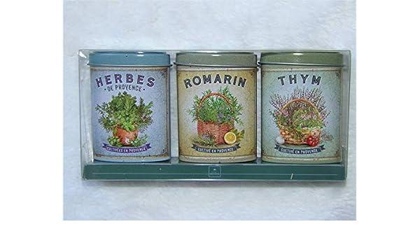 NOVA BOTANICA - Caja de Aromas de Provence (3 Cajas metálicas Decorativas): Amazon.es: Hogar