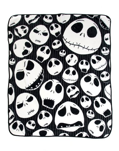 Nightmare Before Christmas 'Skulls' Super Plush Throw, 46 by 60-Inch Nightmare Before Christmas Comforters