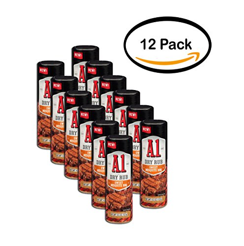PACK OF 12 - A.1. Sweet Mesquite BBQ Dry Rub 4.5 oz. - Shopping Mesquite
