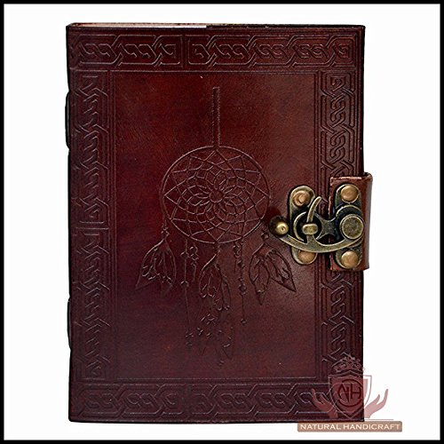 Leather Journal Book Dream Catcher Handmade Embossed Notebook Book of Shadows Handbook Office Diary College Book Poetry Book Sketch Book 5 x 7 Inches