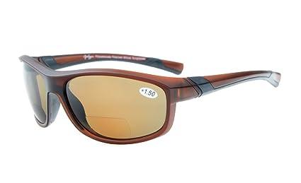 Gr8Sight gafas de sol bifocales de lectura polarizadas gafas tintadas Womens Wraparound estilo de diseño Sports