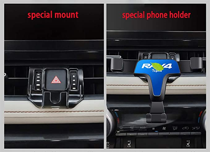 XLE Premium AWD//Adventure//XSE Hybrid//Limited Hybrid Phone Holder fit for Toyota RAV4 2019 2020 ,Car Dashboard Cell Phone Mount Note:Not for RAV4 2019 2020 LE,XLE,and XLE Hybrid Carbon Fiber Pattern
