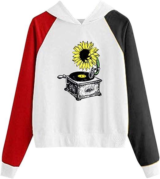 Camisa Casual con Estampado de Girasol para Mujer Blusa de ...