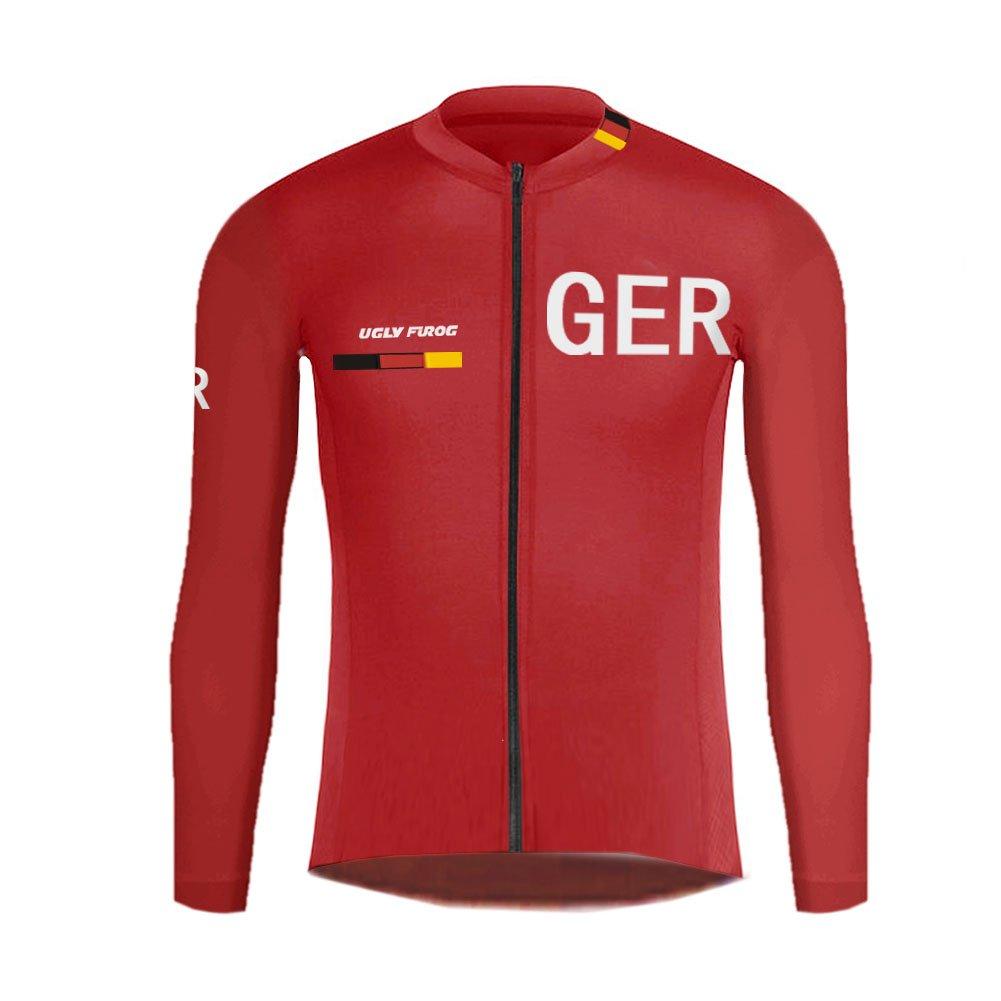 Uglyfrog Deutschland Radtrikot/Radhose mit Sitzpolster/MTB Downhill Jersey/Skinsuit Kurzarm und Langarm Fahrradbekleidung Radsport Team GQZ01