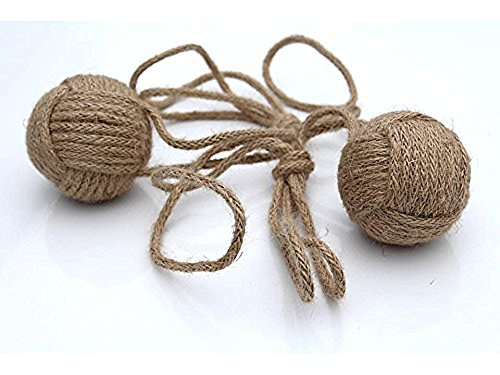 Natural Jute Rope Curtain Tie-Backs Handmade Turks Head Knots, Beach Decor, Rustic, Coastal Cottage Trend