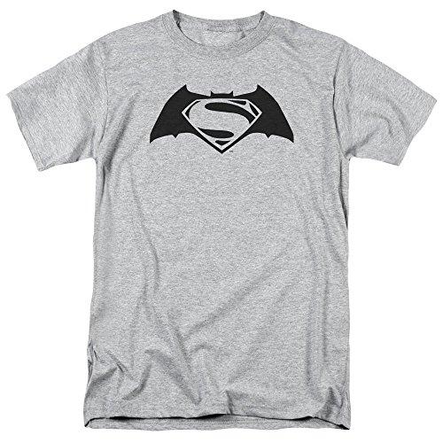 Trevco Men's Batman V Superman Simple Logo Short Sleeve Adult T-Shirt at Gotham City Store