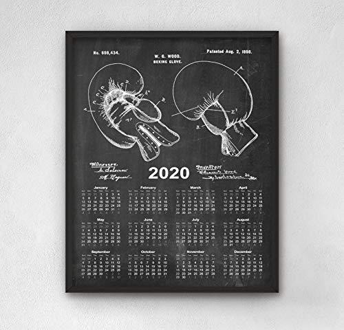 Atwo3242de Calendario de Patentes de Boxeo 2020 2 Guante de Boxeo ...