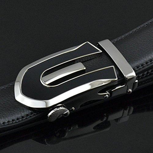 Alta Fibbia Del Vestito Scorrevoli Cinghia Cinghia Automatico Cinturino Di Fascia Mens Cuoio Cricchetto q45Fgg