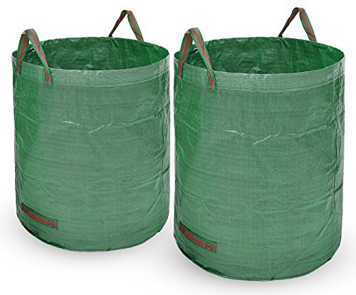 Lawn Pumpkin Bag Big (Ohuhu 2 PACK 72 Gallons Large Garden Waste Bags, Collapsible & Reusable Gardening Lawn Leaf)