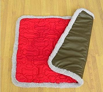 Aluoo Mantas de Cama de Gato Doble Uso para Mascotas Slee Slee Mat Mat Gatos para Perros Puppy Pad Cushion Bed (Pink, L): Amazon.es: Productos para mascotas