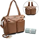 Best Designer Tote Style Baby Diaper Bags - Leather Diaper Bag Backpack By Miss Fong, Ba Review