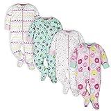 Onesies Brand Baby Girls' 4-Pack Sleep 'N Play