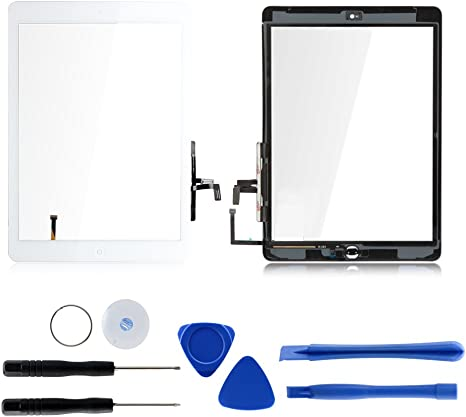 for Apple iPad 2 Digitizer Frame with adhesive White with Tool Kit