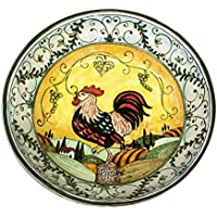 CERAMICHE D'ARTE PARRINI - Italian Ceramic Hand Painted Bowl Serving Landscape Rooster Made in ITALY Tuscan Art Pottery